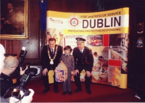 Nathan M Winner of the Dublin Fire Brigade Art Competition